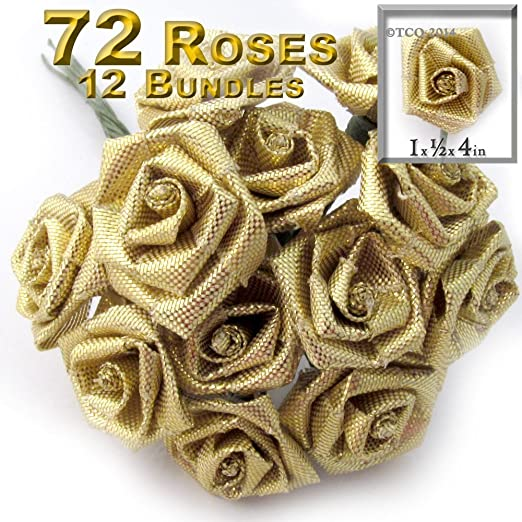 "1 Yd Vintage Look Roses Wired Ribbon 1 1//2/""W"