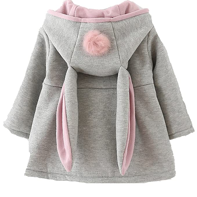 Fanessy - Abrigos - para bebé niña Gris 98 cm: Amazon.es: Ropa y accesorios
