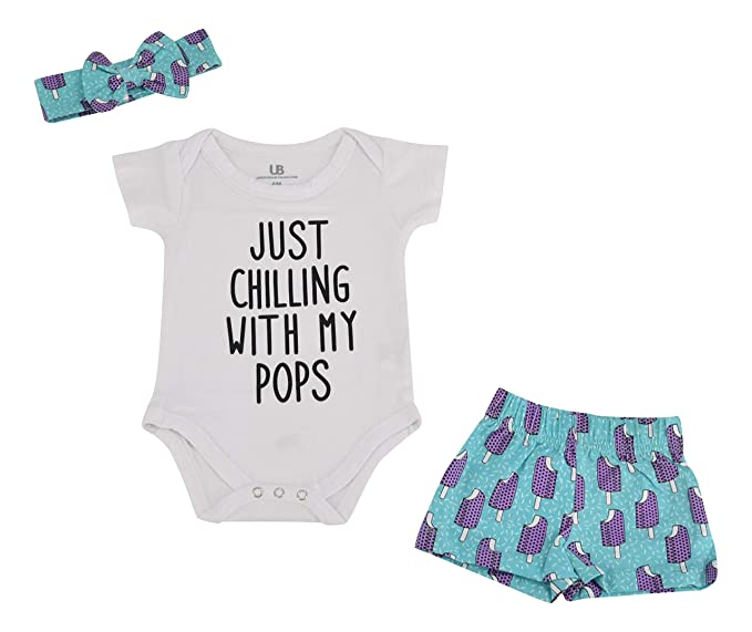 Amazon.com: Unique Baby Girls Popsicle Print Onesie ...