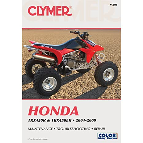 amazon com 2004 2009 honda trx450r trx450er clymer repair manual rh amazon com honda trx450r repair manual download honda trx450r service manual
