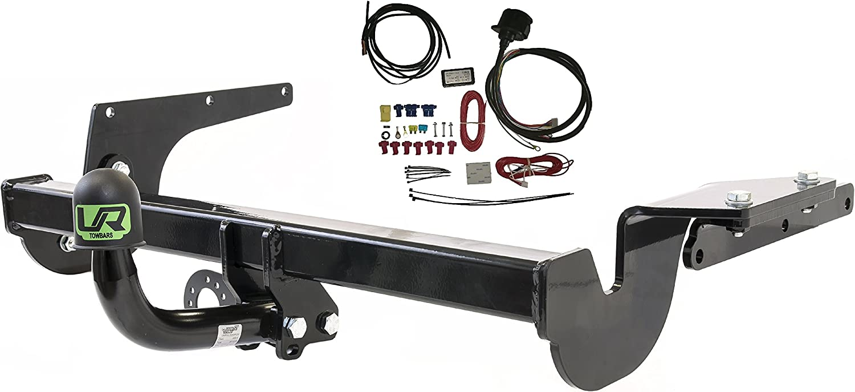 Umbra Rimorchi Fixed Swan Neck Towbar with 13 pin C2 Wiring Kit for Nissan Juke 2WD 2014-2019 UT260COR28ZFM//WU403UK2