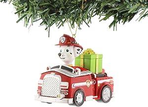 Nickelodeon Paw Patrol Kurt Adler Ornaments Gift Boxed (Marshall Truck)