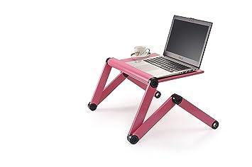 Ajustable de pie mesa sentado escritorio portátil soportes de mesa portátil ordenador ordenador aluminio para uso para MacBook Samsung ThinkPad Lenovo LG: ...