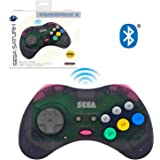 Retro-Bit Official Sega Saturn Bluetooth Controller 8-Button Arcade Pad for Nintendo Switch, PC, Mac, Amazon Fire TV…