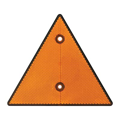 "Grand General 99550 Amber 6"" Triangle Warning Reflector, 1 Pack: Automotive"