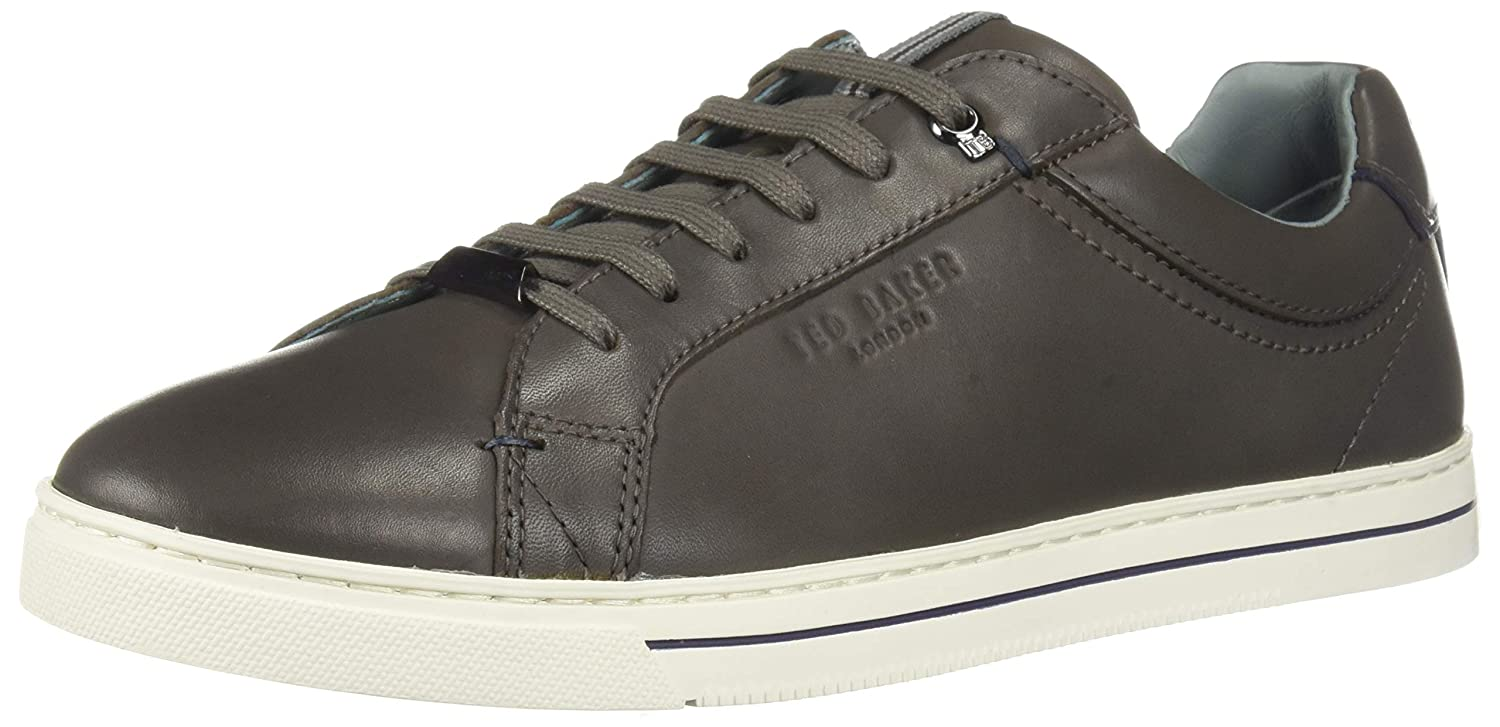 Dark Grey Leather Ted Baker Mens Thawne Sneaker