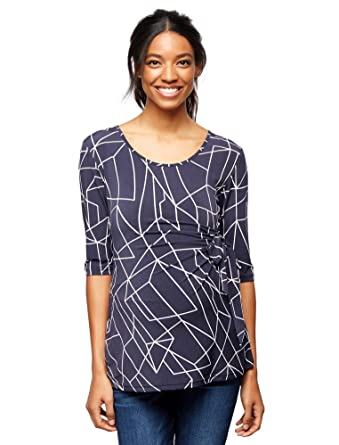 b86fa9adf55 Ripe Side Tie Maternity Top at Amazon Women s Clothing store