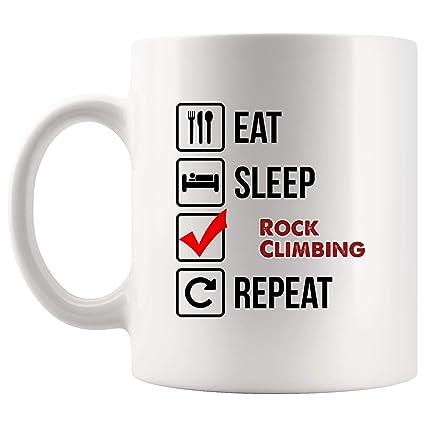 4ad6a4657ad Eat Sleep Repeat Rock Climbing Mug Coffee Cup Tea Mugs Gift | Gift Ideas  Kid Children