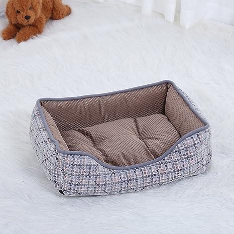 Lamzoom Camas de Perro de Apoyo cálido Cama de Perro Pana portátil Cubierta de caseta Deluxe