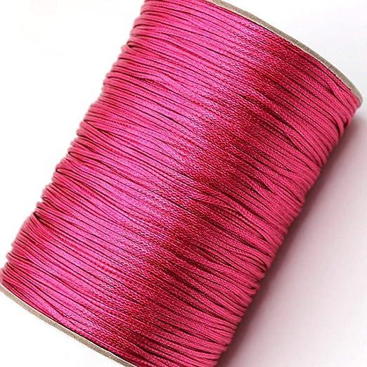 LLAAIT Cordón de algodón Encerado de 1 mm 15 Metros/Lote Cordón de ...