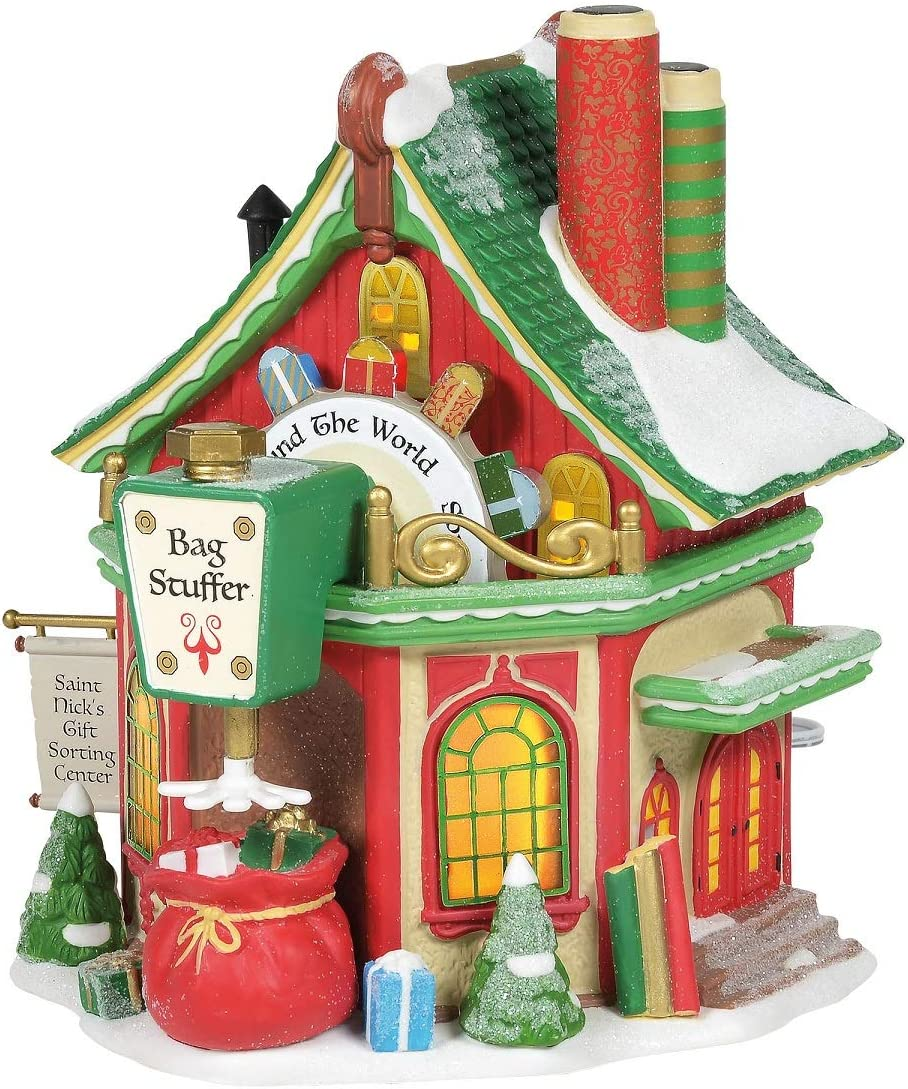 6.77-inch Height /… Nicks Gift Sorting Center Lighted Buildings Department 56 North Pole Series St
