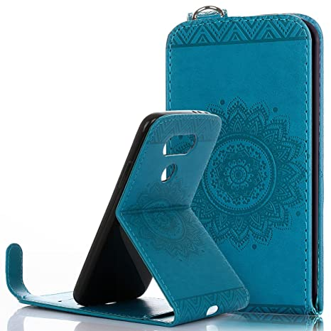 Funda LG G5, Ukayfe Flip Carcasa Case Funda Para LG G5 (Piel ...
