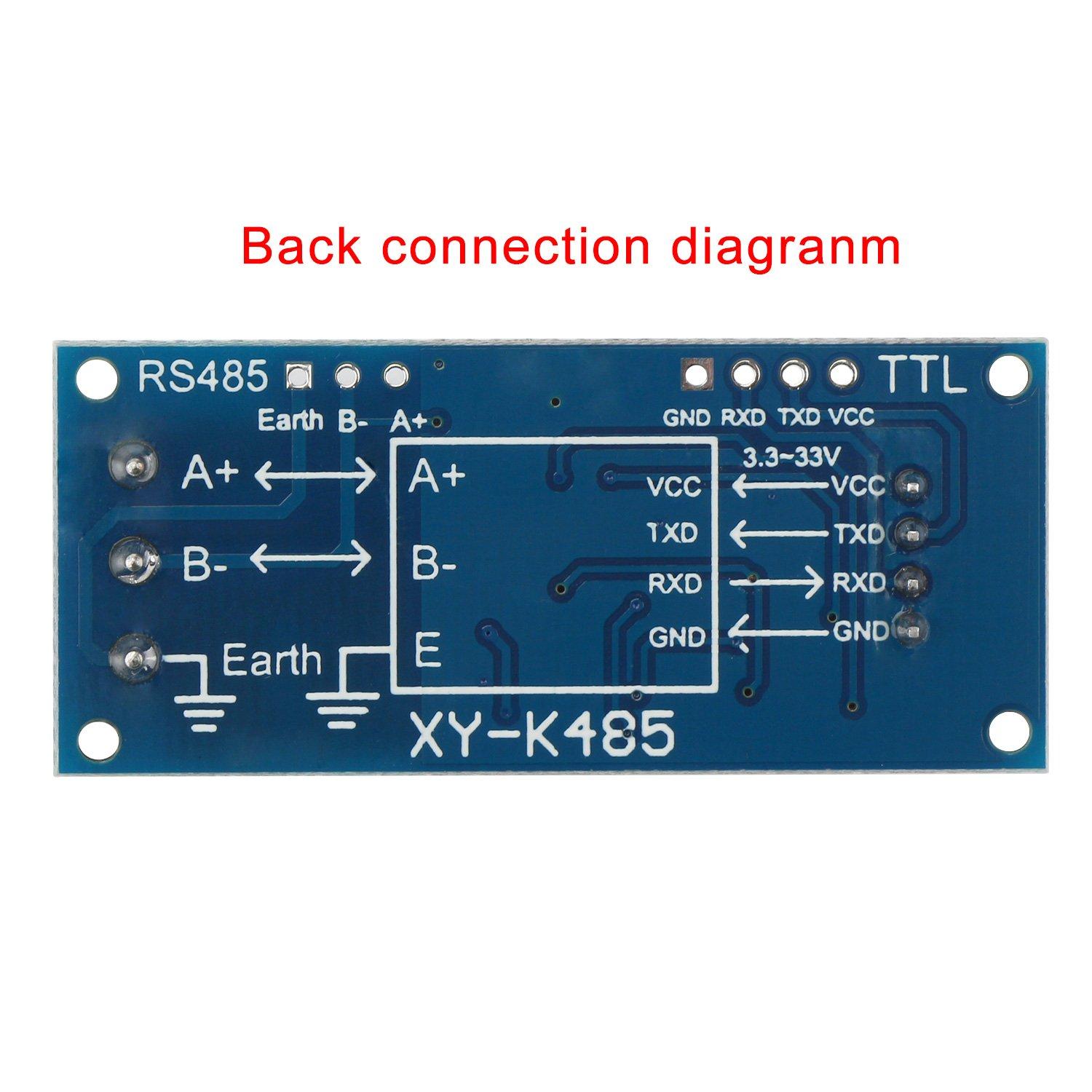 Amazon.com: DROK TTL to RS485 Adapter Module 485 to TTL Signal ...
