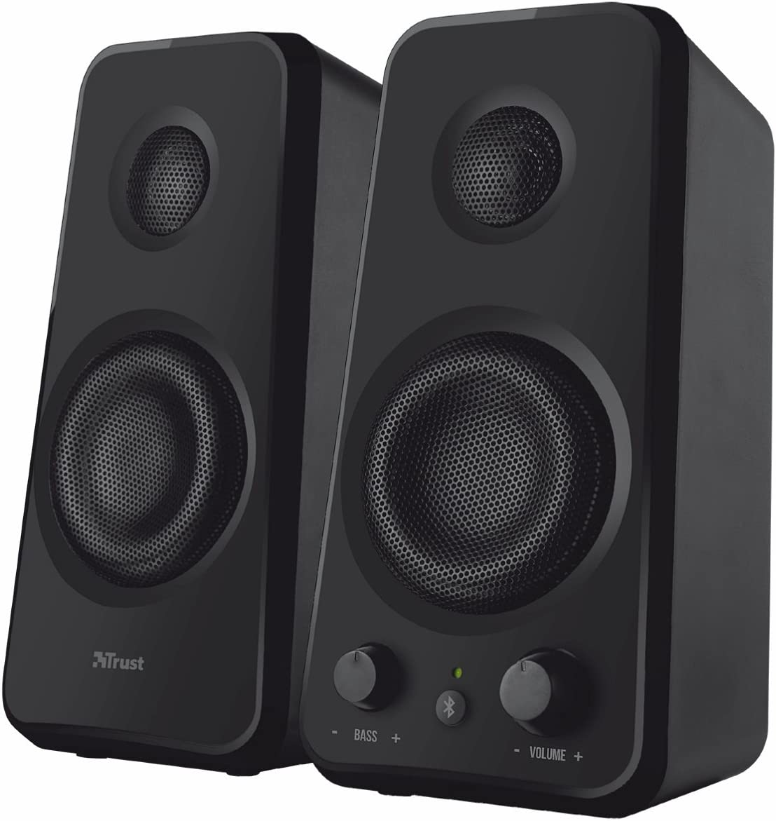 Trust Tytan - Altavoces de Ordenador (18 W, inalámbricos, 2.0, Bluetooth), Negro