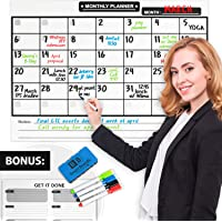 Large Dry Erase Magnetic Calendar With Markers And Eraser