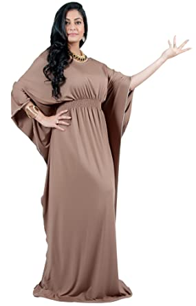 35cf05ddd2ed Adelyn and Vivian Plus Size Women s Long Batwing Sleeve Cocktail Evening  Casual Kaftan Caftan Formal Floor