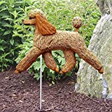 Michael Park Woodcarver Poodle Outdoor Garden Dog Sign Hand Painted Figure Apricot For Sale