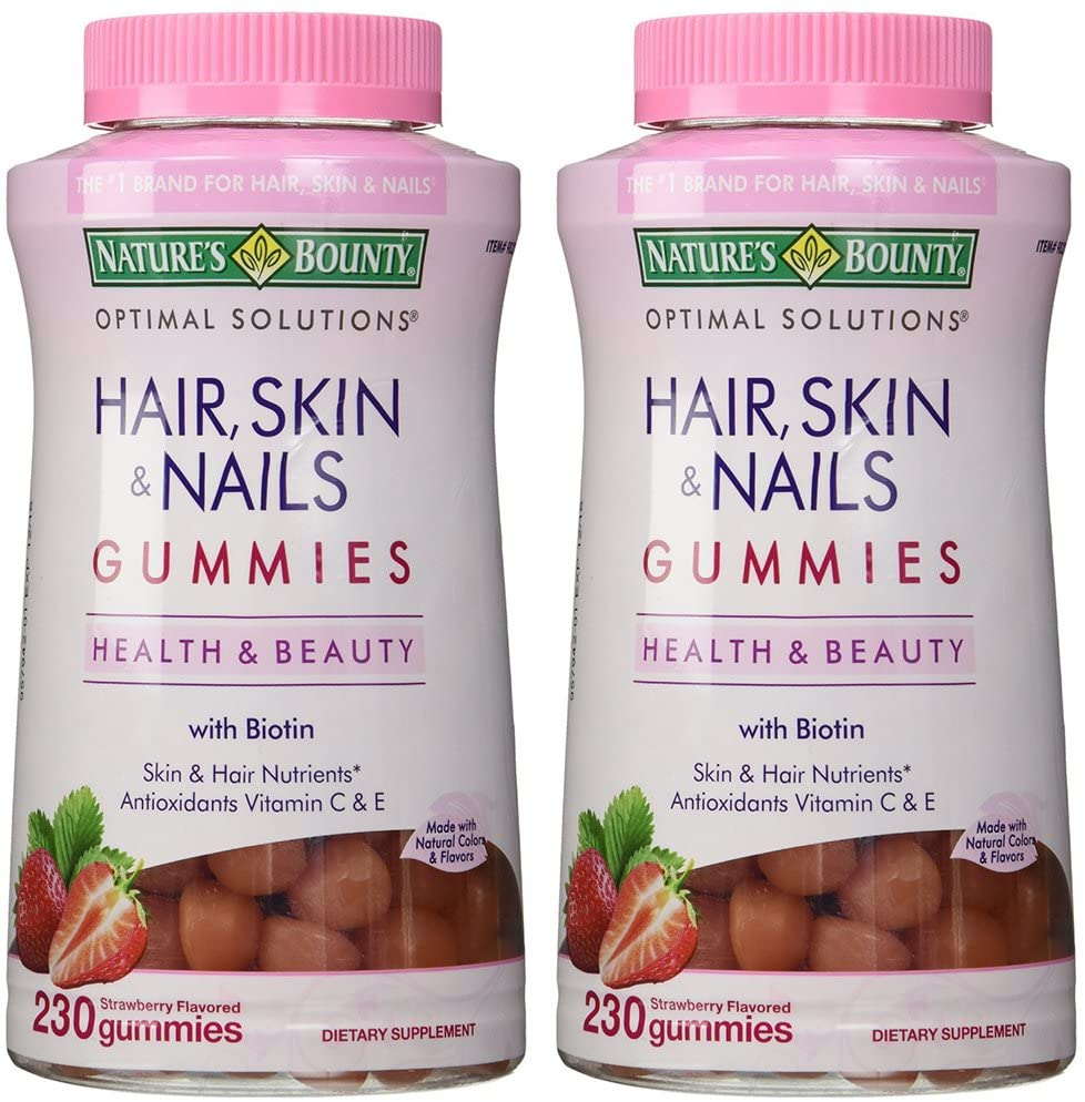 Natures Bounty sAXIR Hair Skin and Nails, 230 Gummies (2 Pack)