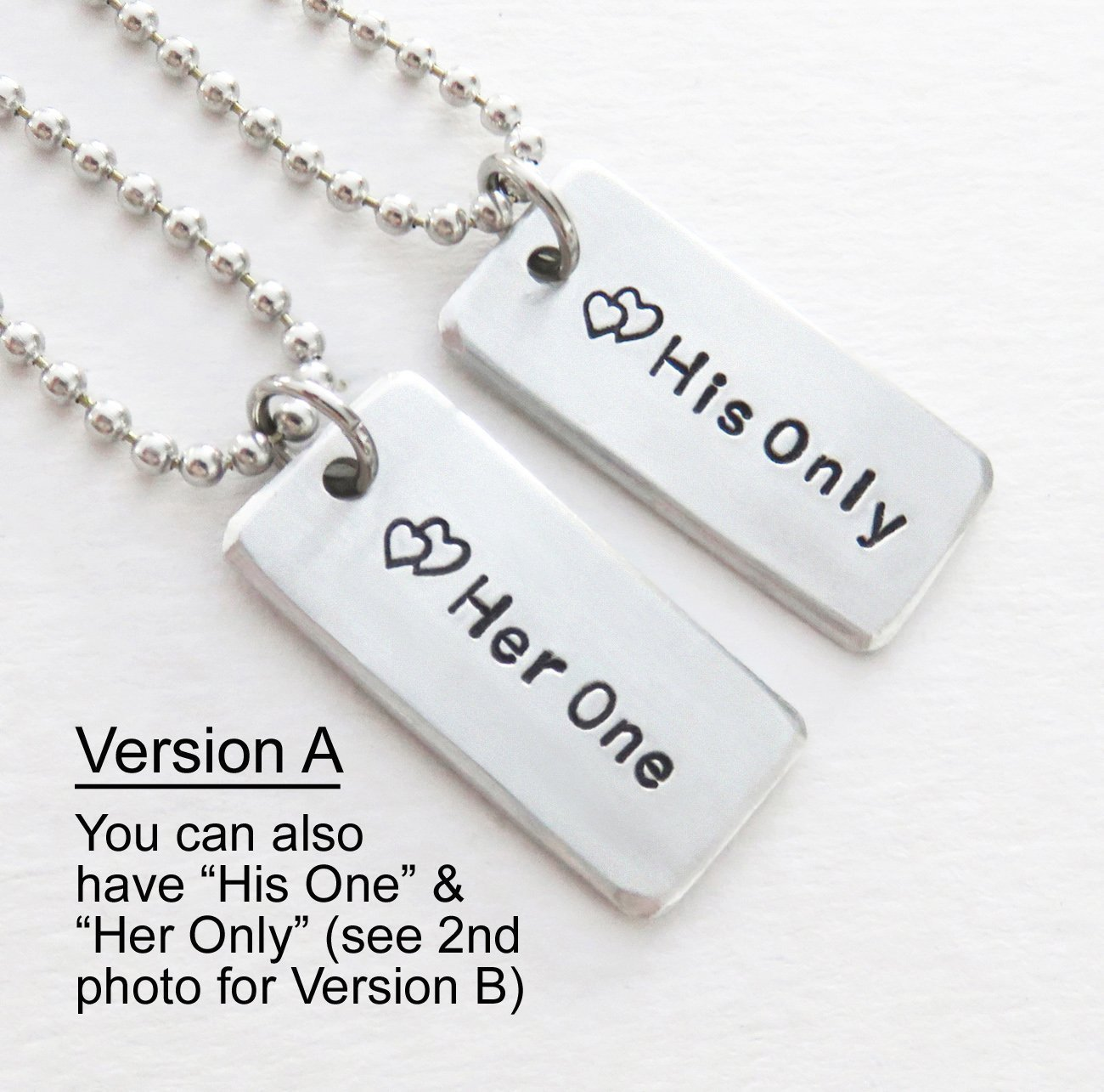 Amazon.com: Her One His Only (or His One Her Only) pendants charms ...