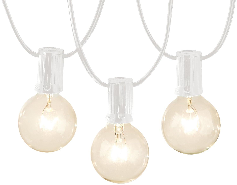 AmazonBasics Patio Lights, White, 50