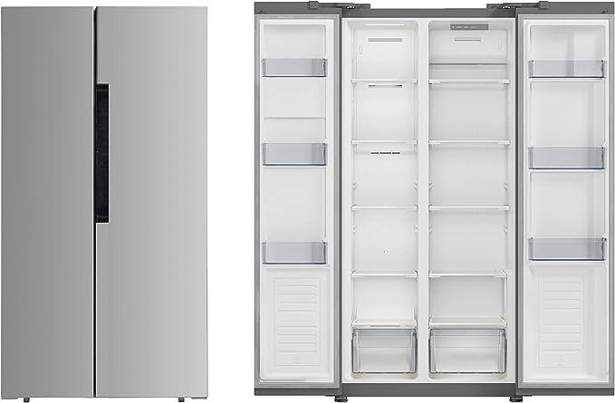 PKM SBS 440.4A+NF SI Side by Side - Congelador de nevera y ...