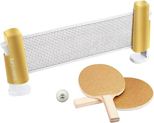 SunnyLIFE Table Top Tennis Game Set for Kids and Adults