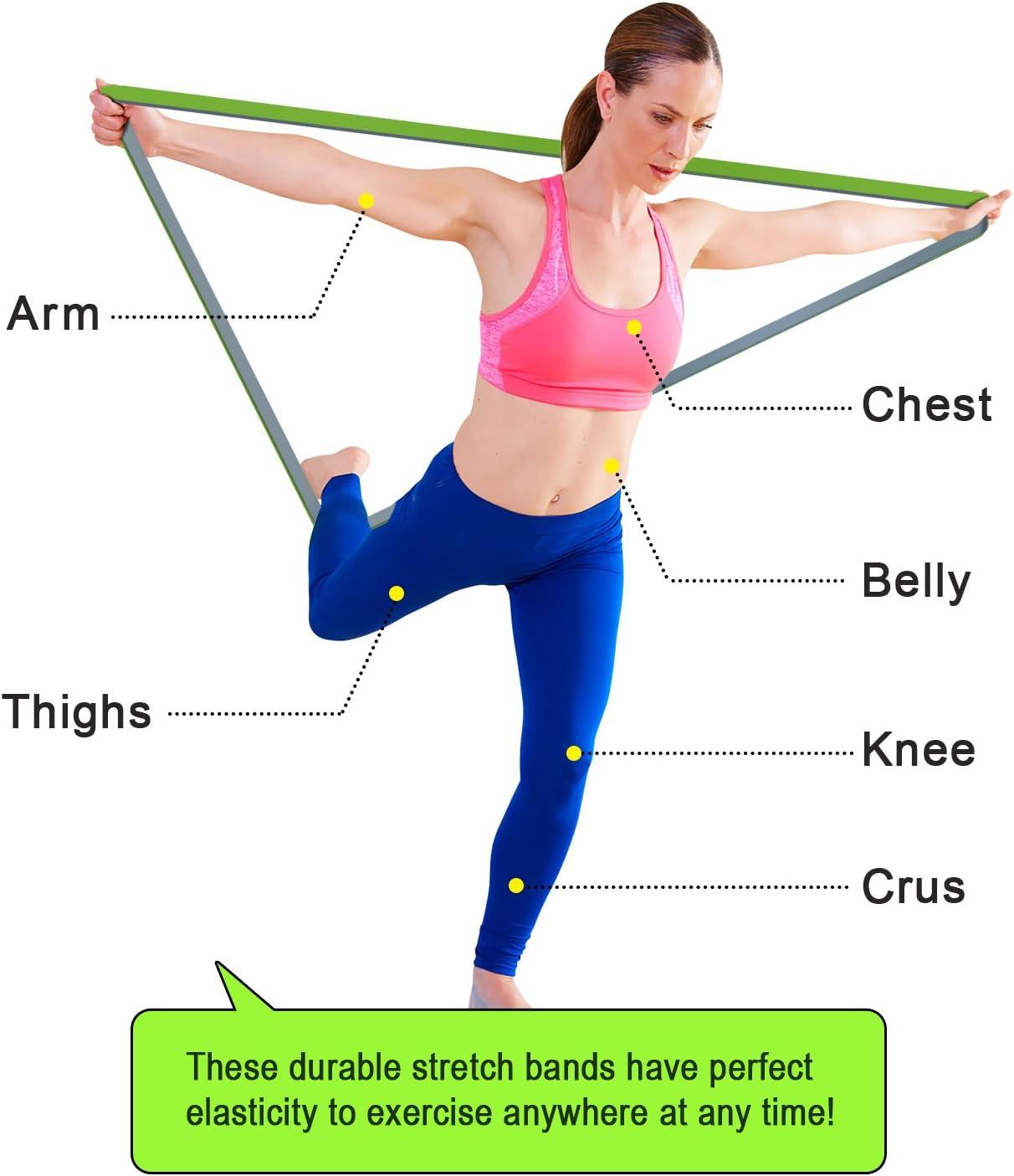 Elastique d/'Entra/înement Corps Jambes Traction 4UMOR Bande de R/ésistance Musculation en Latex Bande d/'Exercice pour Fitness Fessiers Yoga Crossfit Homme//Femme