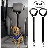 BWOGUE 2 Packs Dog Cat Safety Seat Belt Strap Car Headrest Restraint Adjustable Nylon Fabric Dog Restraints Vehicle…