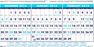 """product image for House of Doolittle 2016 Three-Month Horizontal Wall Calendar, 17"""" x 8"""" (HOD3647-16)"""