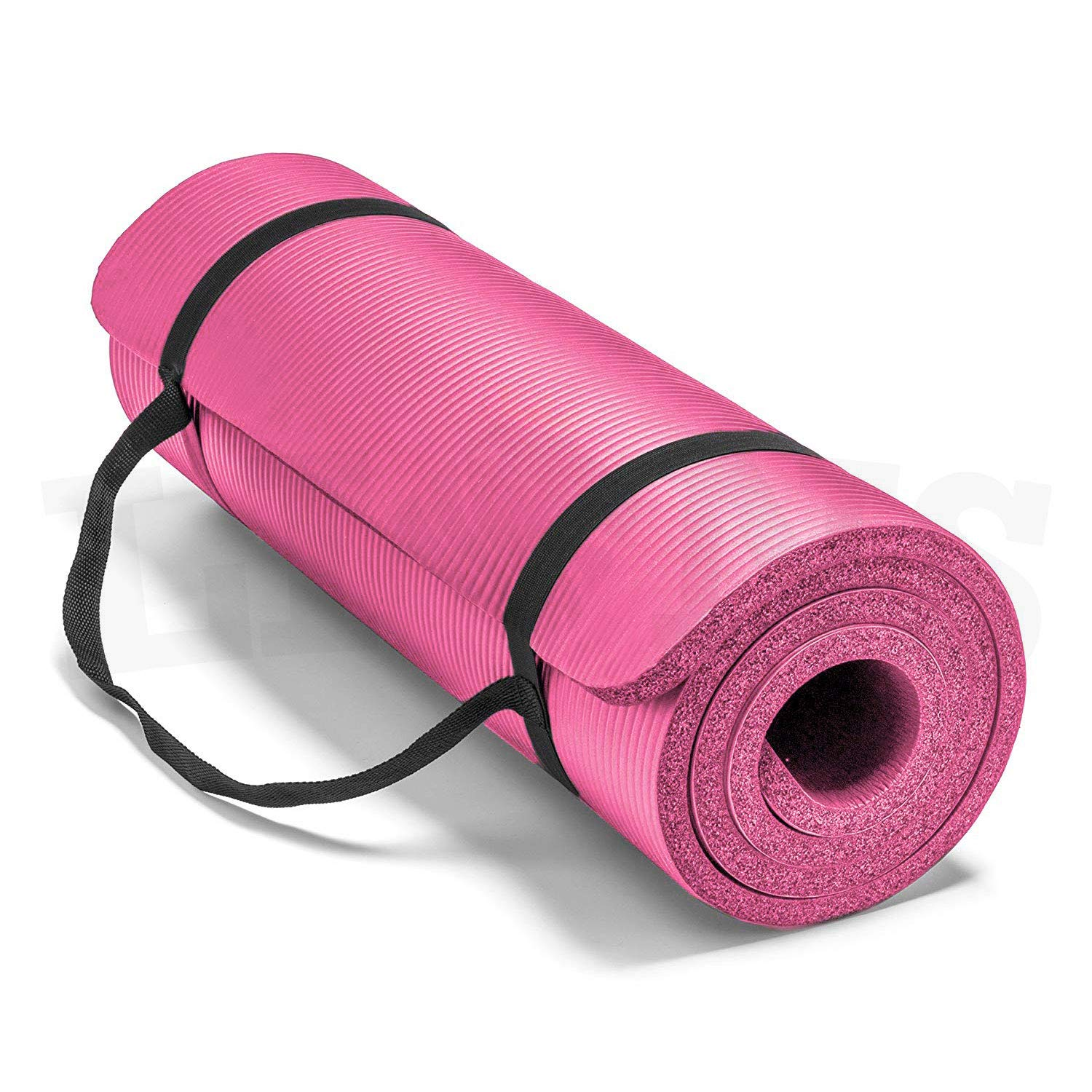 Lions Extra Thick Large Excercise Yoga Gym Mat Non Slip Foam Padded Camping Excercise Gymnastic Pilates Mats With Carry Handles
