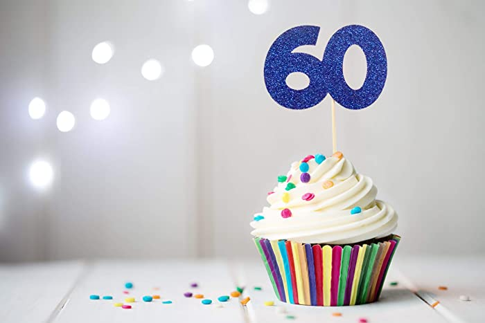 Amazon 60 Cupcake Topper 60th Birthday Cupcake Topper 60th