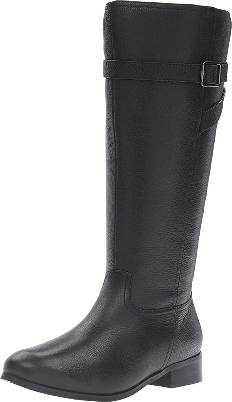 Trotters Women's Lyra Wide Calf Riding Boot B019QTQSGA 9 B(M) US|Black Veg Tumbled Leather