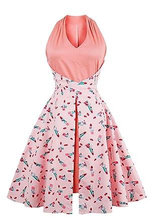 Babyonlinedress Vestido de verano para mujer estilo vintage a 60 ...