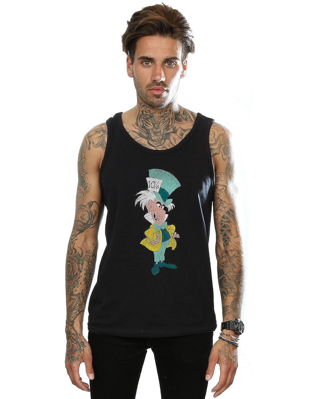 Disney Mens Alice in Wonderland Classic Mad Hatter Tank Top