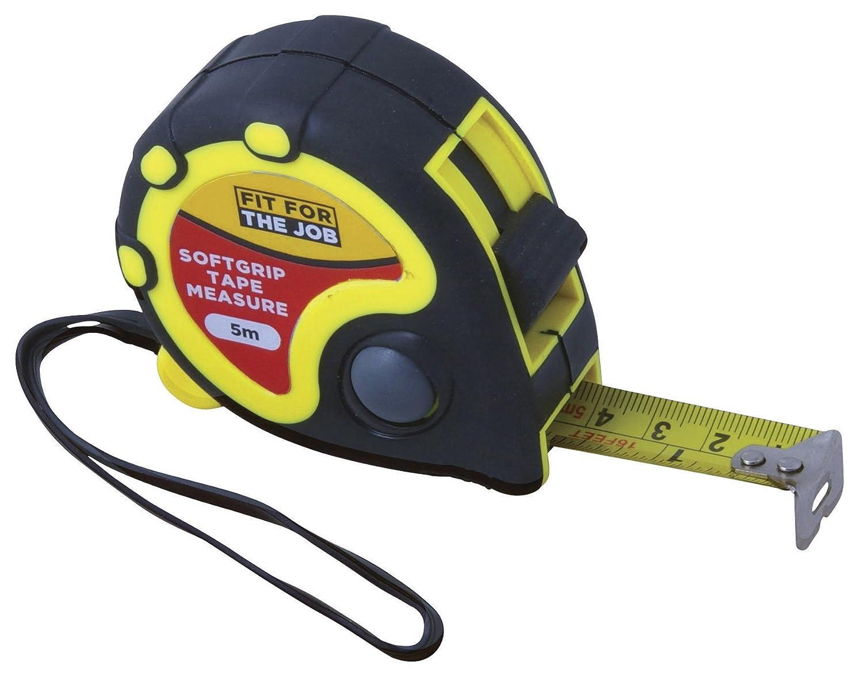 FFJ 5 Metre Easy Read Tape Measure With Metal Belt Clip