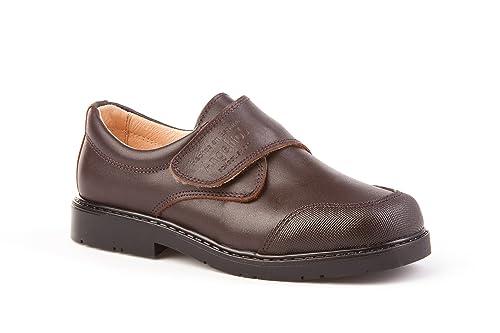 Zapatos Colegiales con Puntera Reforzada Todo Piel, mod.452. Calzado infantil Made in