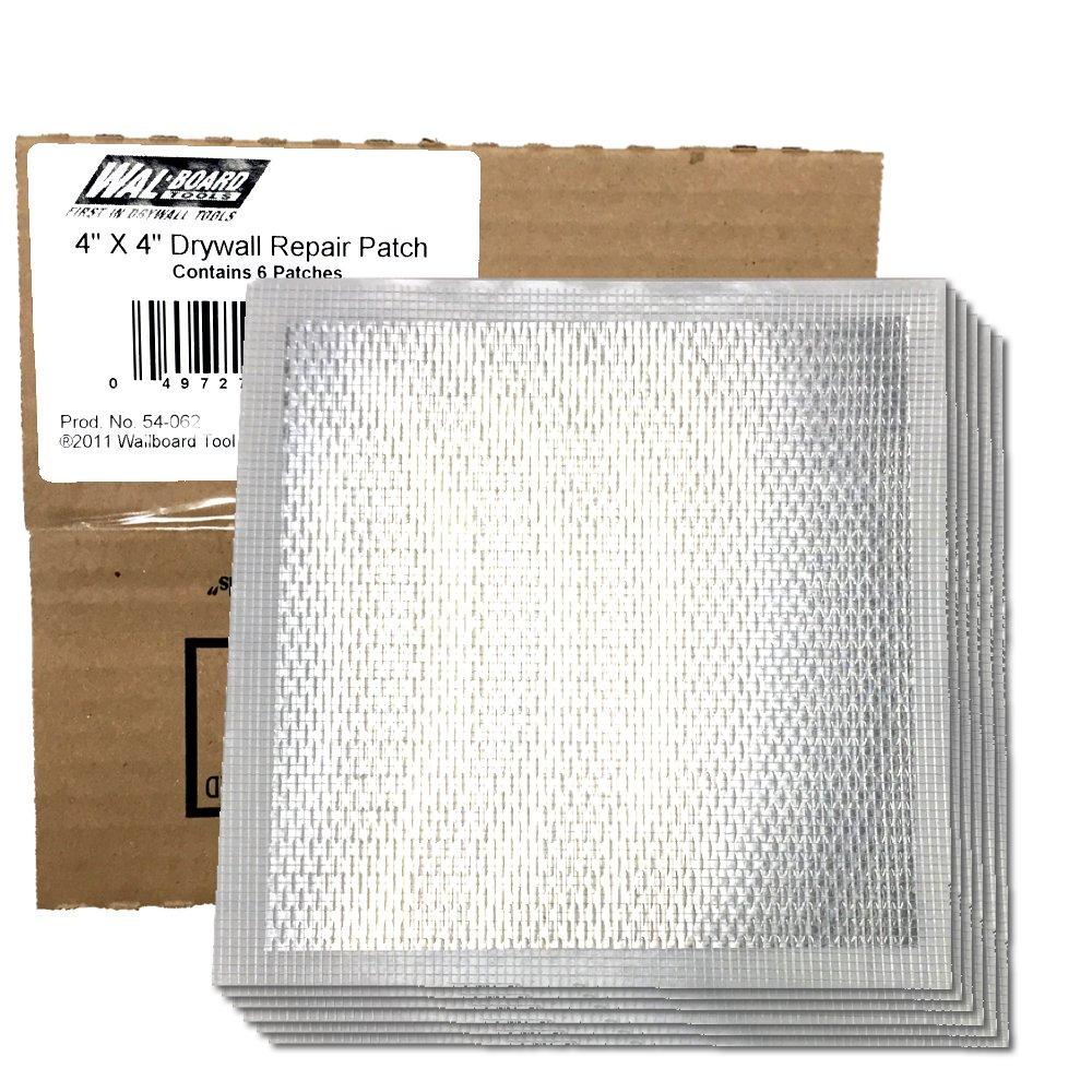 Wal-Board Drywall Repair Patch - 4'' x 4'' Self Adhesive Mesh w/Aluminum Backing (6-Pack)