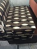 Feather Puff 3 Seater Sofa Cum Bed (Multicolor)