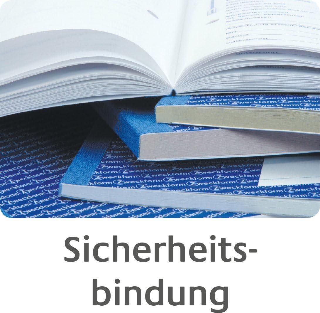 Rechnungsbuch AVERY Zweckform 00700 A5 3 x 50 Blatt Weiß//Gelb//Rosa Blaupapier fü
