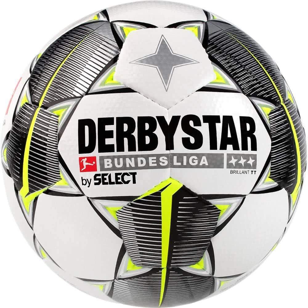 Derbystar Brillant TT HS - Balón de fútbol Unisex, Color Blanco, Negro y Amarillo, Talla 4: Amazon.es: Deportes y aire libre