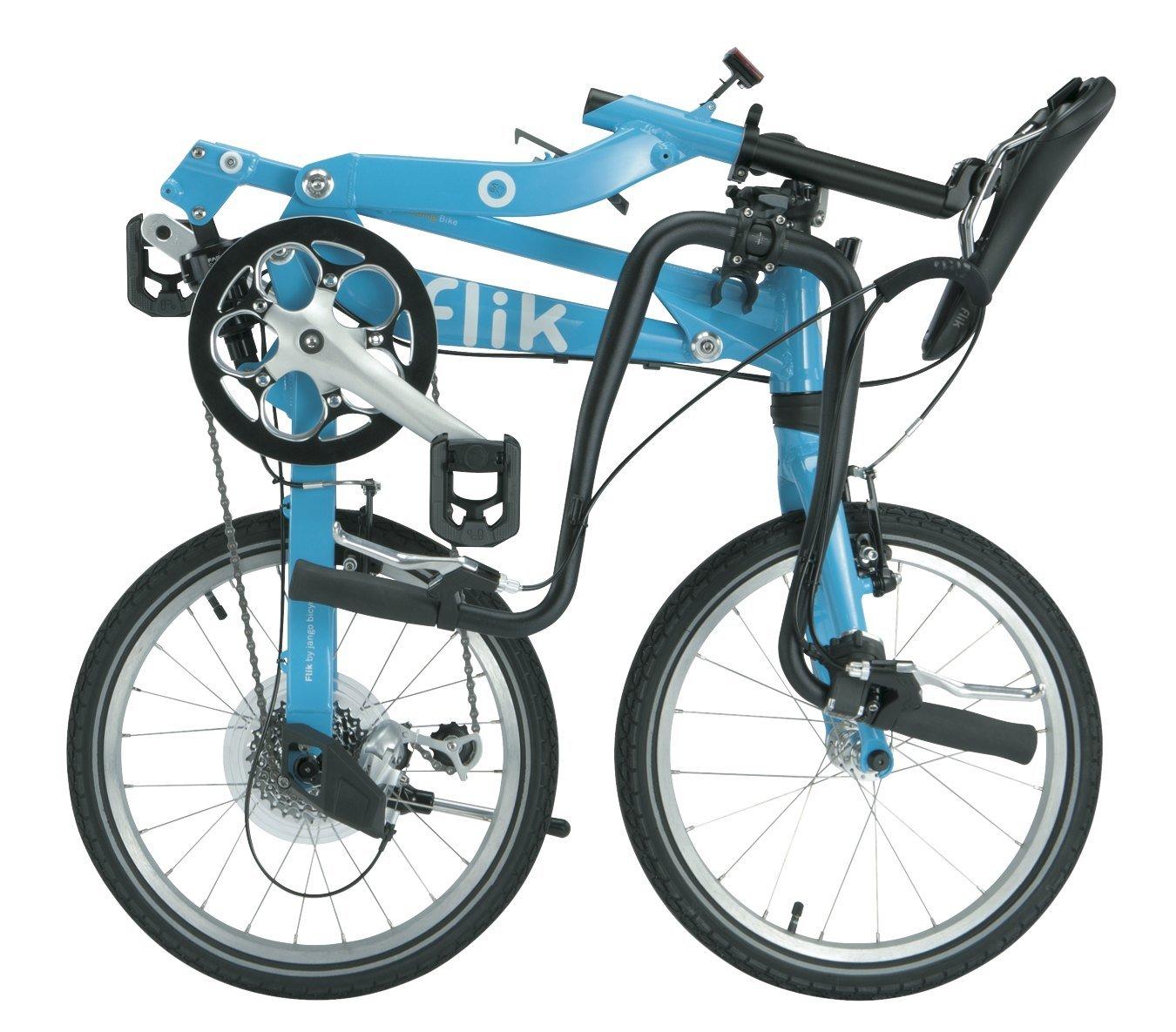Bicicleta Plegable Jango Flik de TOPEAK (azul turquesa) EZV9 18 Shimano Sora 11Kg 9 Velocidades Suspensión Trasera: Amazon.es: Deportes y aire libre