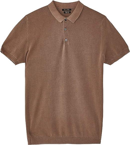 Massimo Dutti 0901/301 suéter de algodón Liso Estilo Polo para ...
