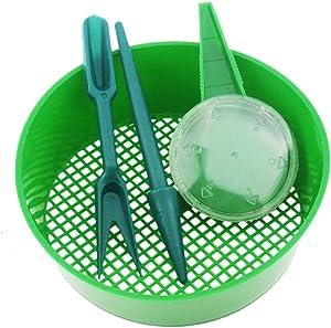 Ogrmar Sowing Tools 3Pcs Seed Dispenser Sifting Pan Sower Seed Spreaders Planter Seeder Tool (Sowing Tools 3Pcs)