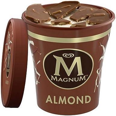 Magnum - Almendras Helado en tarrina sin gluten - 440 ml: Amazon ...