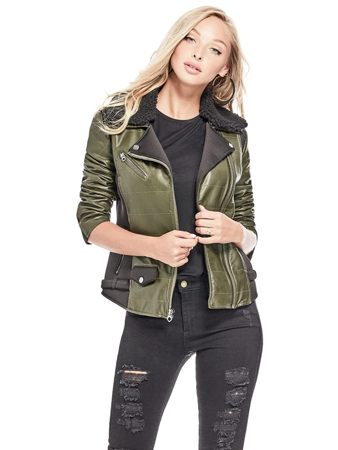 GUESS Womens Elsa Moto Jacket