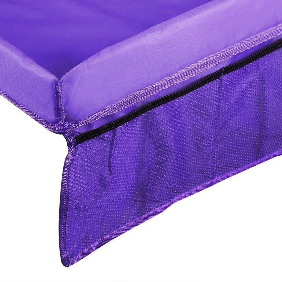 bandeja para asiento de coche talla /única Morado fibra de poli/éster Milong Bandeja de viaje para ni/ños organizador para ni/ños