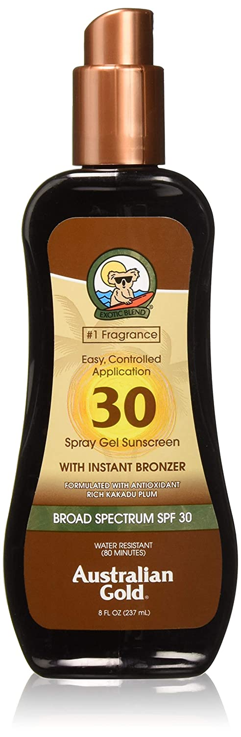 Australian Gold SPF 30 Spray Gel with Instant Bronzer 237ml AGSPF30WB