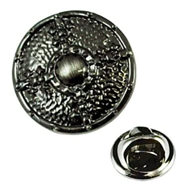 Viking Shield Pewter Pin Badge