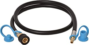Flame King RV, Van, Trailer, Dual Quick Connect Hose, LP Gas Only, 48 Inch, 1/4 Inch ID - 100395-48