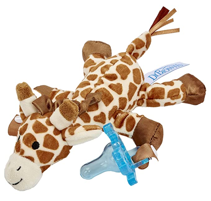 Dr. Browns GIRAFFE Lovey with Blue One-Piece Pacifier